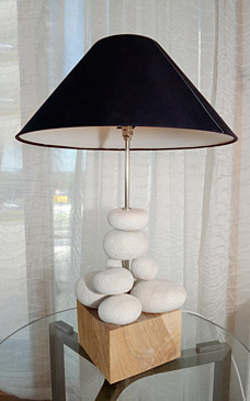 Ash and Stone lamp